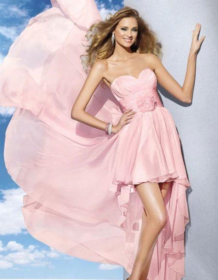 Rochie roz cu trenul