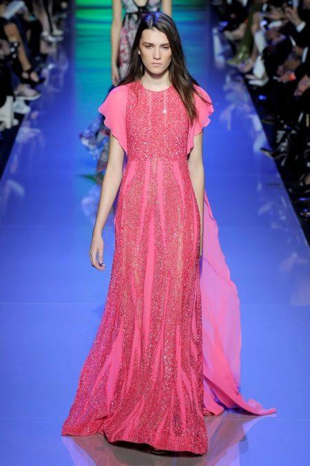 Rochie roz cu mâneci scurte