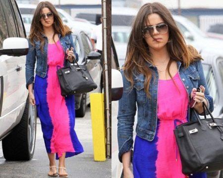 Rochie roz și albastră