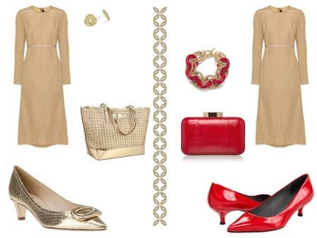 Red body dress accessories