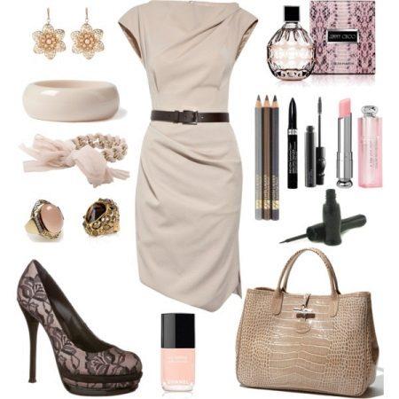 Brown jewelery dress