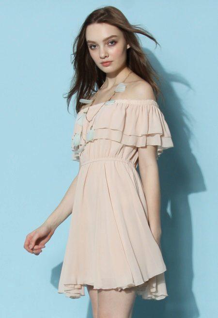Body dress with ruffles