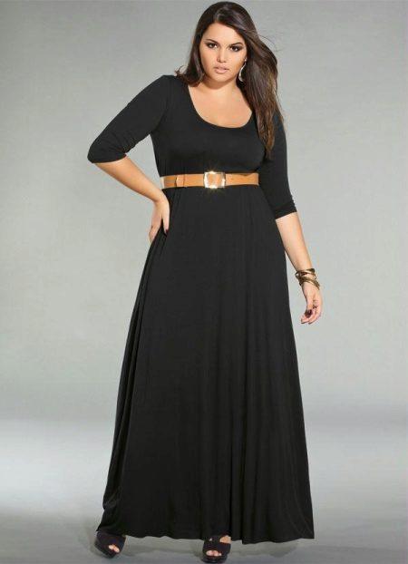 Vestit negre de punt llarg per complet