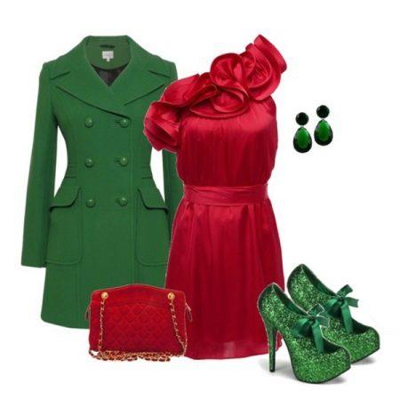 Acessórios verdes para vestido de cereja