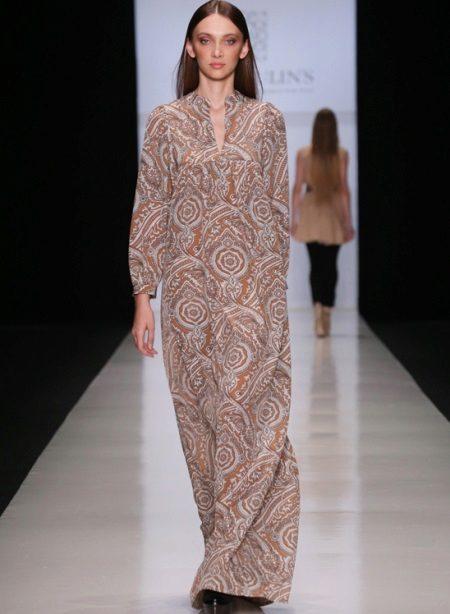 Lange jurk-tuniek voor zwangere vrouwen