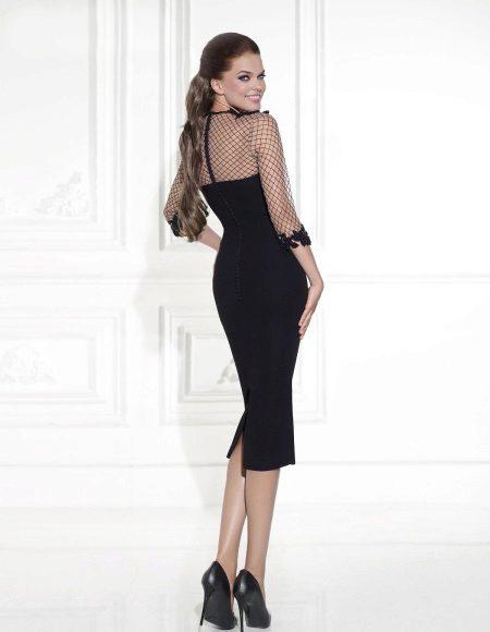 Slida klänning med dragkedja på baksidan