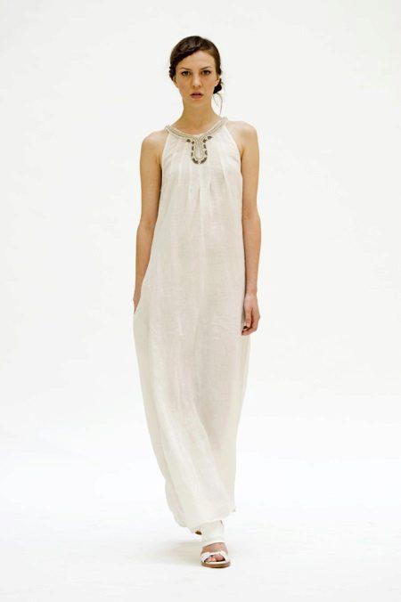 Pitkä pellava-mekko