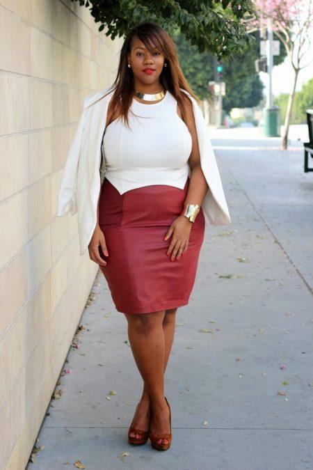 Bell vestit bicolor per a dones obeses