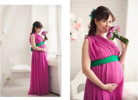 Vestido grego para mulheres grávidas