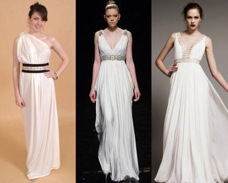 Exemplos de vestidos de maternidade gregos