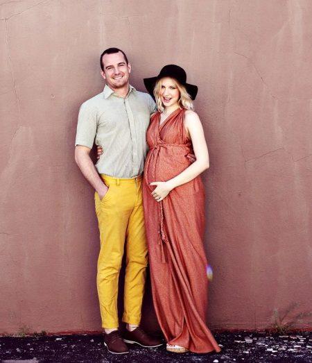 Vestido sem padrões para mulheres grávidas.