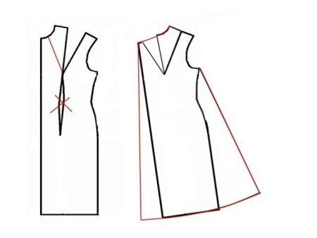 Padrão de vestido trapezoidal para mulheres grávidas