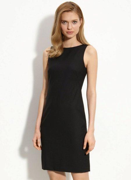 Black classic sheath dress