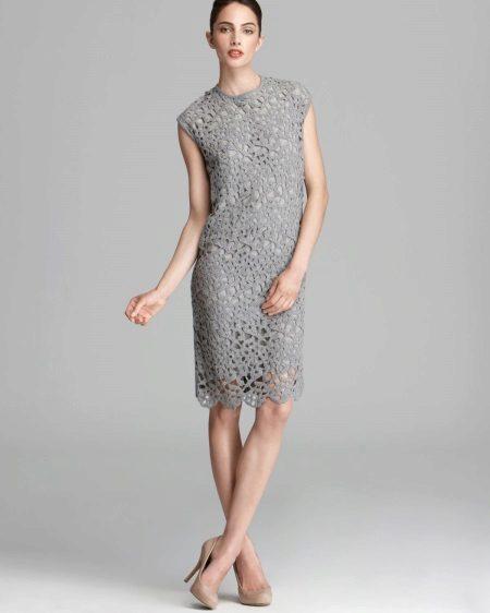 Gray Lace Sheath