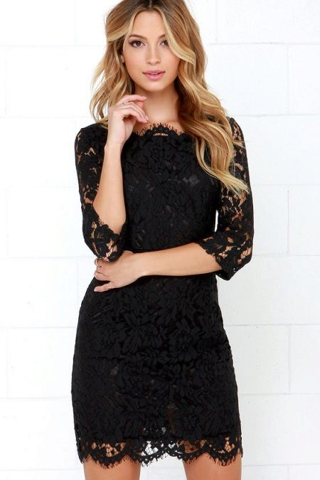 Black lace dress case