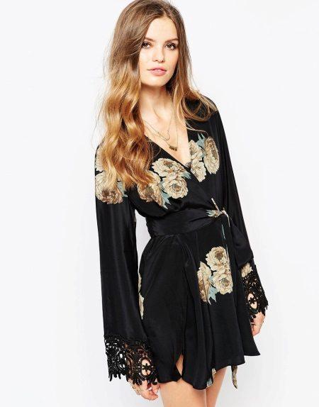 Kimono-jurk voor thuis