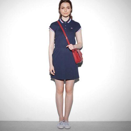 שמלת פולו כחולה קצרה