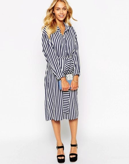 Midi Length Shirt Dress