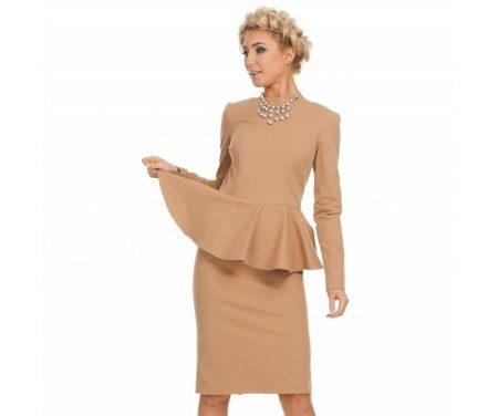 Beige dress with basky