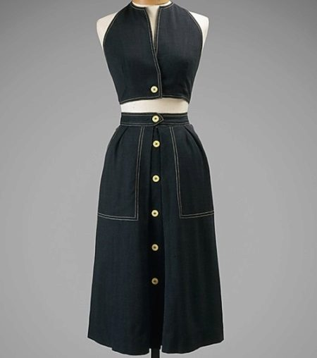 Claire McCardell Denim Dress