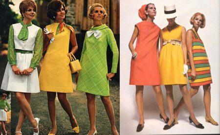 Kleed trapeziumachtige jaren 60 aan