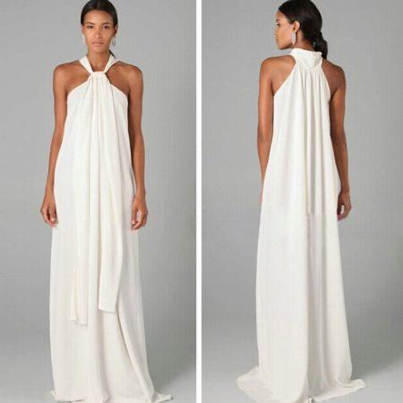 Vestido longo A-line
