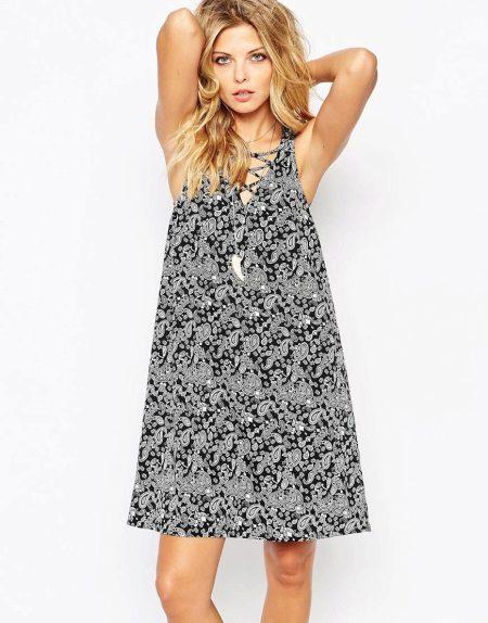 Mouwloze A-lijn jurk
