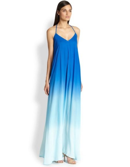 A-line dress with blue gradient