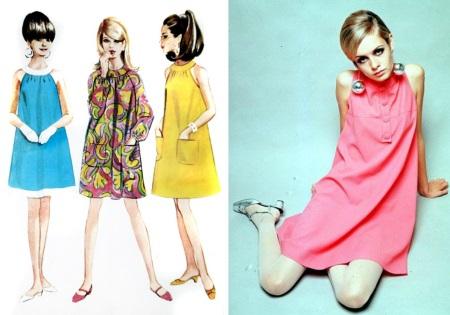 Trapeze dress - moda dos anos 60