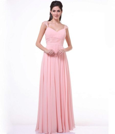 Long pleated pleated dress