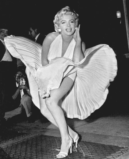 White Pleated Marilyn Monroe Dress