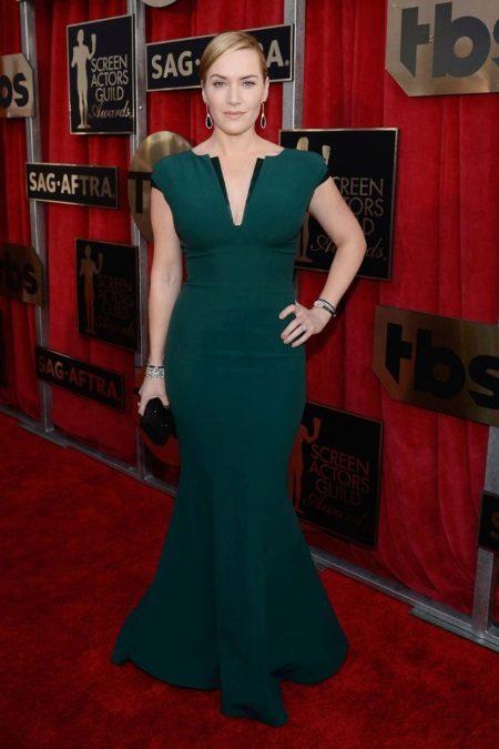 Kate Winslet in een jurk van Armani