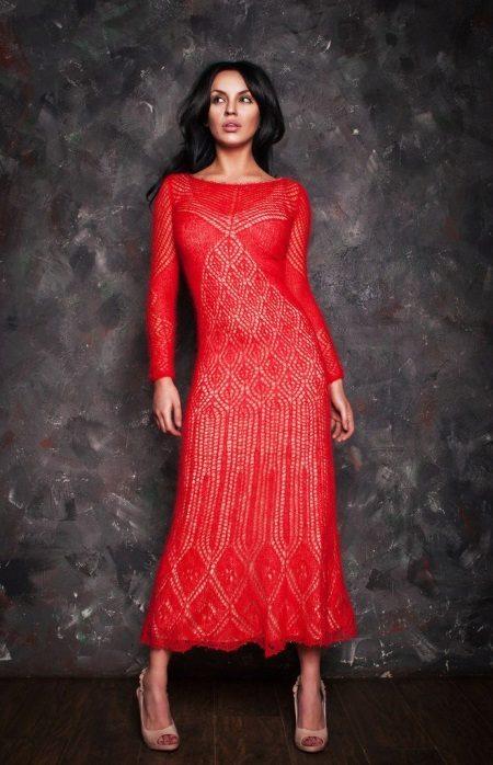Megzti nėrinių suknelė