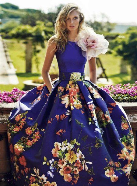 Vakaro pūkuotas pavasario suknelė