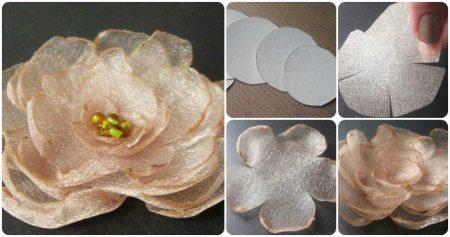 Útmutató a virág organza-ból való létrehozásához