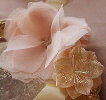 Organza virág példa