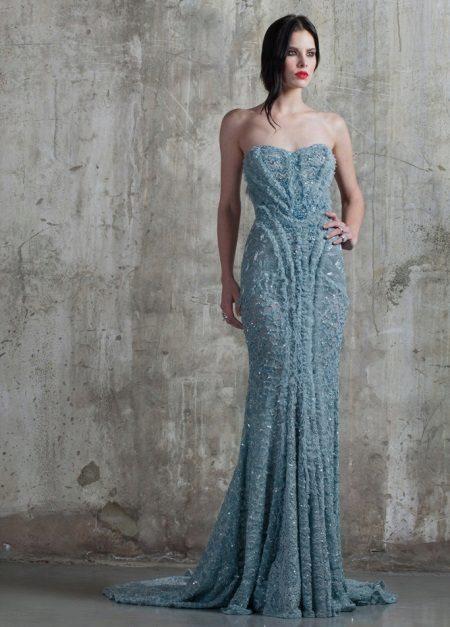 Stroppløs Mermaid Dress