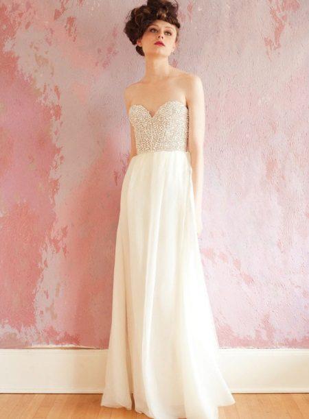 Bustier dress of maximum length