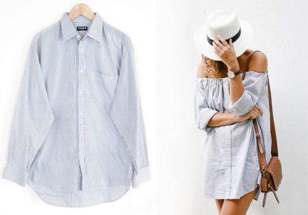 Camisa dos homens para um vestido