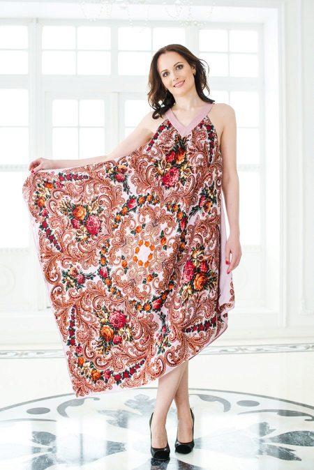Rochie de șal cu curele