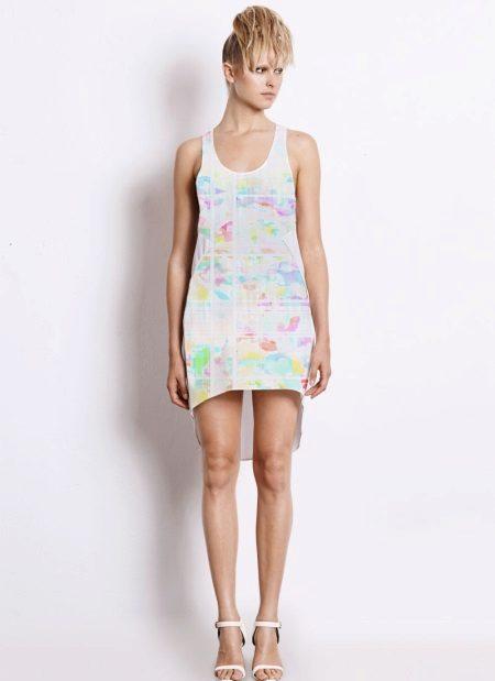 Kjoler til tynne kvinner med en figur Rektangel