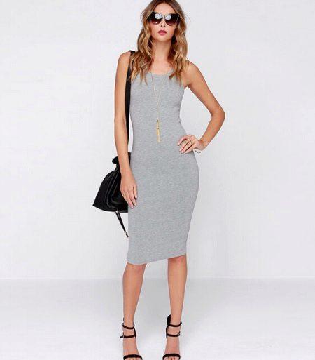 Mid-length klänning skjorta