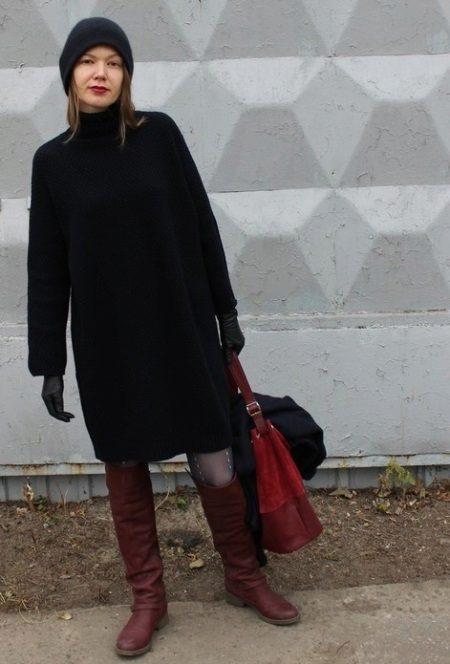 Šaty taška s botami