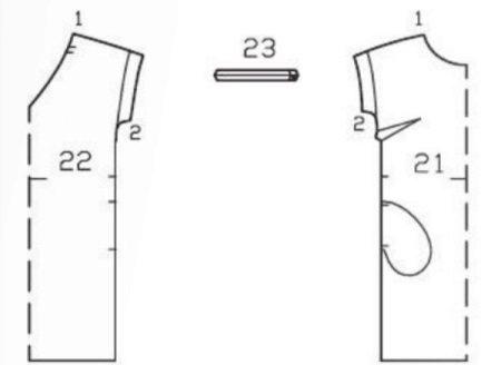 Vestido reto padrão com mangas
