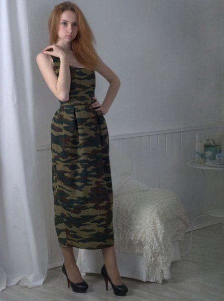 Camuflagem vestido militar