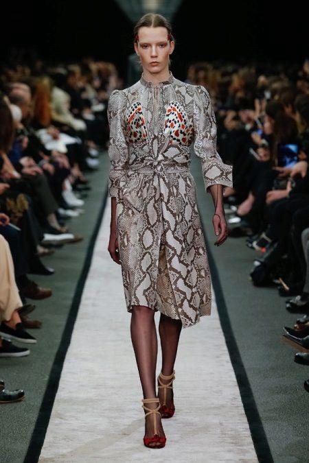 Eco-nahka painettu mekko