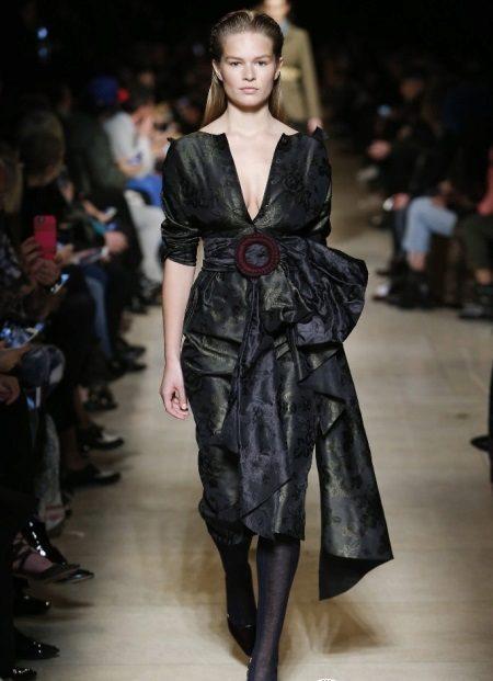 Vestido de crepe de chine