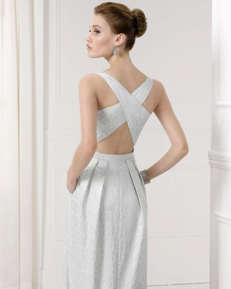 Graduation Dress with Open Back
