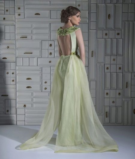 Green dress with open back