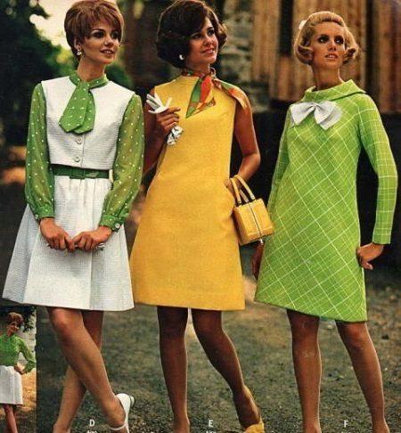 Vestidos de moda dos anos 60